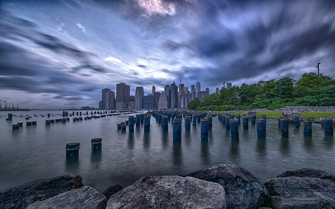 High-resolution desktop wallpaper Manhattan before the storm by JohnDoe