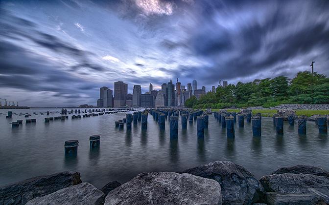 High-resolution desktop wallpaper Manhattan before the storm by JohnDoe