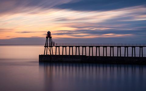 High-resolution desktop wallpaper Sunrise in Whitby by edwhite