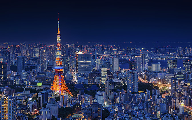 High-resolution desktop wallpaper Tokyo Tower by Takashi
