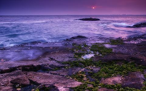 High-resolution desktop wallpaper Sunset in Enoshima by Takashi Miyazaki
