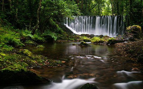 High-resolution desktop wallpaper Galician Waterfall by lifestream