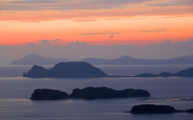High-resolution desktop wallpaper Twilight Islands by yohey yamagata