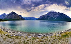 Brewing Storms on the Lake wallpaper