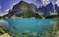 Moraine Lake Panorama wallpaper